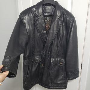 YVES SAINT LAURENT Vintage Black Leather Jacket